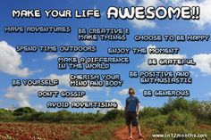 Make your life awesome! Inspirational Quotes Pictures, Picture Quotes, Grateful, Jen Jen, Mindfulness, Positivity, In This Moment, Make It Yourself, World