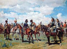 """Soldiers on Horseback"" by Jean-Louis Ernest Meissonier"