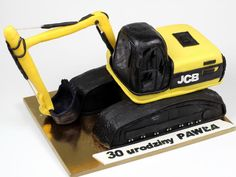 JCB Excavator Birthday Cake