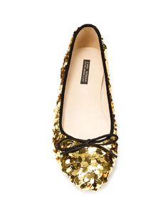 Sequined ballerina shoes!