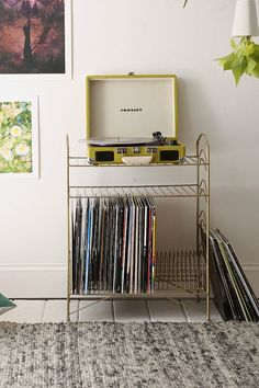 UO Vinyl Record Storage Shelf