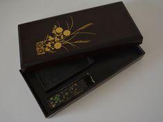 Suzuri bako calligraphy box set by Zohiko, vintage Japanese shodo set by StyledinJapan on Etsy