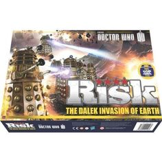 The strategic game of Risk - now in Doctor Who Edition  Choose your side, deploy your armies and go into battle  Beautifully crafted armies
