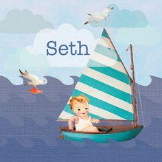 Geboortekaartje Seth
