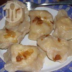 Zdjęcie do przepisu: Tradycyjne ruskie pierogi Bacon, Allrecipes, Pierogi, Shrimp, Garlic, Vegetarian, Meat, Chicken, Vegetables