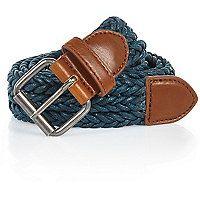 Teal blue woven belt@RiverIsland £12