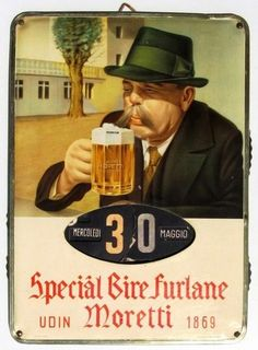 Art Nouveau Poster, Beer Poster, Beer Cans, Beer Brewery, Ad Art, Alcohol, Advertising, Signs, Retro