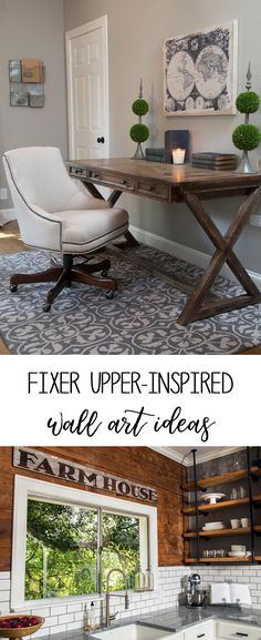 Wall art ideas inspired by Fixer Upper | home decor ideas | creative art | farmhouse