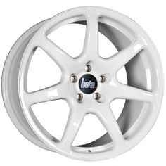 18 inch STAGGERED BOLA B7 5x100 WHITE 5 stud alloy wheels