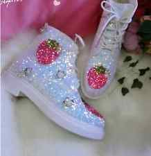 Strawberry Shortcake Fruits Girl Crew (Huckleberry and Finn) Style Booties for women.