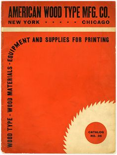 American Wood Type Mfg Co, Catalog No 36, cover