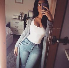 clothes for women,casual outfits,base layer clothing,casual outfits Fashion Killa, Look Fashion, Girl Fashion, Autumn Fashion, Fashion Outfits, Womens Fashion, Fashion Hair, Daily Fashion, Fashion Trends