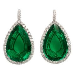 Emerald and Diamond earrings  1stdibs.com