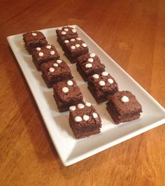 Casino themed party! Dice brownies YUM!