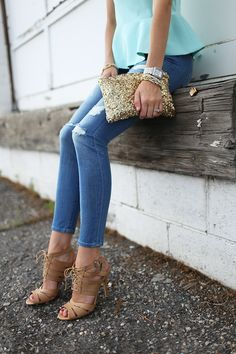 loving peplum lately, and those shoes!