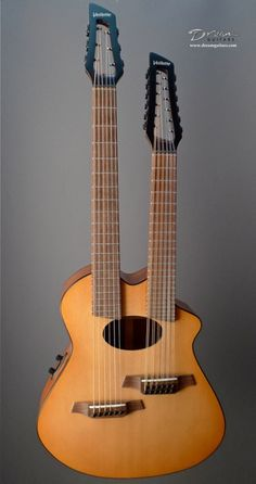 Veillette Double Neck Gryphon standard 6-string and short-scale 12-string