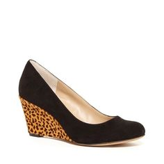 "Leopard 'Faith' Wedge Worn once, excellent condition. Office-ready wedge with a rounded toe, wrapped detailing and a stacked heel. * Material: Suede, Haircalf * Heel Height: 2 1/2"" * Fit: True to size * Shoe Width: Medium Sole Society Shoes Wedges"