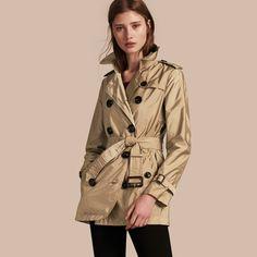 ba909e75fa044 BURDULLY British Style Short Trench Coat For Women Winter Autumn ...