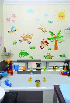 Photo's taken by: Emielke Stylist: Joanita Cillie  For more about this theme, visit yourparenting.co.za Nautical Nursery, Nursery Decor, Room Decor, Diy Wall Stickers, Decals, Underwater Sea, Sea And Ocean, Fish Art, Vinyl Art