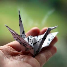 Paper Crane by moth-owl