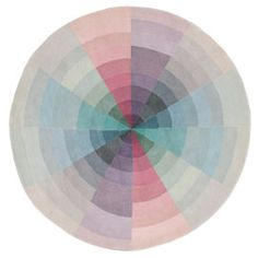 Universe by Linie Design is an usual and sophisticated circular rug featuring muted pastel colours and a cool, playful design. The rug is part of the exclusive and high-quality Selected range of crisp, streamlined Nordic designs that add a touch of s Circular Rugs, Sonia Delaunay, High Pile Rug, Circle Rug, Nordic Design, Furniture Sale, Unique Home Decor, Sisal, Rugs On Carpet
