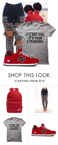 """""""Untitled #90"""" by lovejayx ❤ liked on Polyvore featuring Herschel and New Balance"""