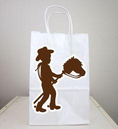 Cowboy Goody Bags Cowboy Favor Bags Cowboy Goodie by CraftyCue