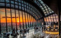 Sky Pod Bar at Sky Garden Why It's Hot: On the 35th floor of an office building on Fenchurch Street in the City, this bar has the most spectacular views across London. Must Drink: Boozy ice cream when the weather warms up. Insider Tip: It's a bar for all seasons, with warm drinks and cashmere blankets in the winter and deck chairs and Pimm's in the summer. Levels 35, 20 Fenchurch St., EC3M 3BY; 03337 720020