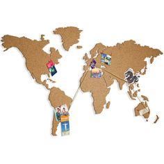 murando - Self-adhesive cork board - - To be glued directly to the wall - Innovative - No glue no nails - World map natural cork Memo Boards, Pin Boards, Cork Board Map, Unicorn Pencil Case, Grand Format, Thing 1, Office Stationery, Kids Room Design, Creative Walls