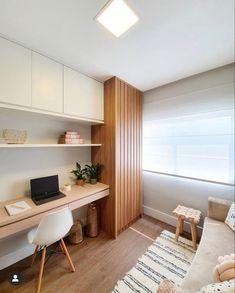 Study Room Design, Study Room Decor, Room Design Bedroom, Home Office Design, Home Office Decor, House Design, Home Study Rooms, Small Room Interior, Home Office Closet
