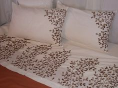 images of ribbon embroidery - Google Search Ribbon Embroidery, Embroidery Designs, Designer Bed Sheets, Bed Sheets Online, Bed Design, Bed Spreads, Bed Pillows, Pillow Cases, Google Search