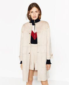 FAUX SUEDE-FEEL COAT-Coats-OUTERWEAR-WOMAN   ZARA United States
