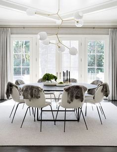 Black And White Home Inspiration Dining Room