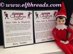 Elf Personalized Official Arrival/Goodbye Letter Christmas Elf Accessories