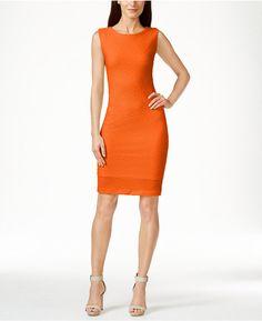d11acc69a52b Calvin Klein Textured Sheath Dress Kjoler Til Arbejde