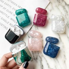 Luxury Marble For Airpods Case Bluetooth Earphone Cute Silicone For Airpod 2 case Cover Headphone Charging Bag for air pods case Fone Apple, Airpods Apple, Coque Ipod, Telefon Apple, Cute Ipod Cases, Accessoires Iphone, Earphone Case, Marble Case, Air Pods