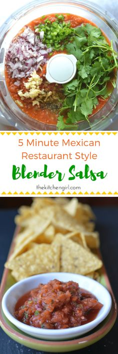 Make blender salsa ANY season with alwaysavailable ingredients like canned tomatoes cilantro lime onion peppers and garlic 5 Minute Mexican Restaurant Blender Salsa Easy Homemade Salsa, Simple Salsa Recipe, Vegan Salsa Recipe, Cooked Salsa Recipe, Best Salsa Recipe, Homemade Recipe, Homemade Breads, Blender Salsa, Salsa Picante