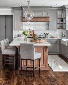 58 Creative Grey Kitchen Cabinet Ideas for Your Kitchen #kitchencabinetideas #kitchencabinets | GentileForda.Com