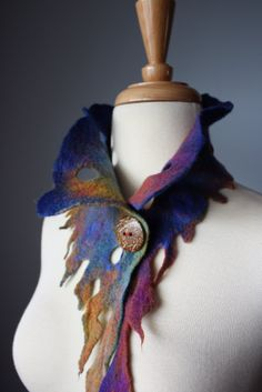 Laboratory of Fashion: ELF Hand felted asymmetrical Avant-garde ...