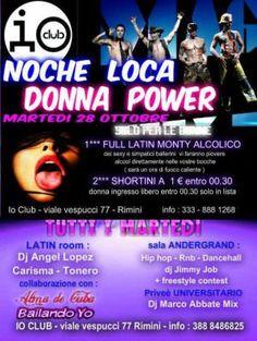 L'Io club Rimini vi aspetta tutti i martedì di Gennaio per nuove serata all'insegna della musica latina e commerciale.