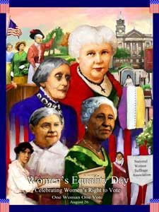 2012 Women's Equality Day Poster One Woman One Vote.(GSA)