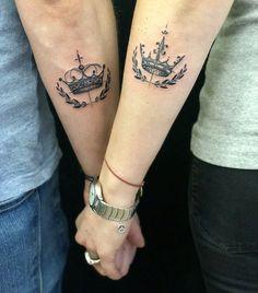 Simple Couples Tattoos, Couple Tattoos Love, Couples Tattoo Designs, Trendy Tattoos, Mini Tattoos, Small Tattoos, Tattoos For Women, Simple Tattoos For Guys, Paar Tattoos