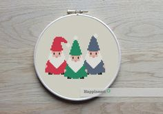 Hey, I found this really awesome Etsy listing at https://www.etsy.com/listing/213833865/counted-cross-stitch-pattern-gnomes