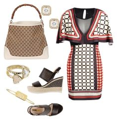A fashion look from September 2015 featuring bohemian style dresses, dark brown sandals and shopper tote bag. Browse and shop related looks. Shopper Tote, Tote Bag, Bohemian Style Dresses, Brown Sandals, Kendra Scott, Chloe, Fashion Looks, Gucci, Let It Be