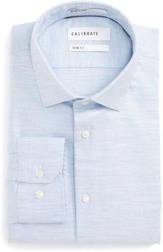 Men's Calibrate Trim Fit Twill Dress Shirt