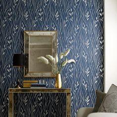 York Dazzling Dimensions. Leaf Silhouette Wallpaper