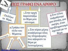 ISSUU - Συγγραφη αρθρου by alexandra galani Teaching Writing, Writing Activities, Grammar Exercises, Greek Language, Teaching Methods, Language Activities, Teacher Tools, School Psychology, Greek Quotes
