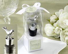 """Peach Flower  - """"Lovebirds"""" Chrome Bottle Stopper, $2.70 (http://www.peachflower.com.au/lovebirds-chrome-bottle-stopper/)"""