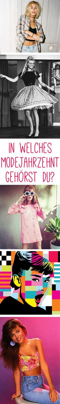 Zeitreise-Test: Welches Modejahrzehnt passt zu dir?  http://www.gofeminin.de/modetrends/welches-modejahrzehnt-passt-zu-dir-s1436047.html #50s #60s #70s #80s #90s #ninties #eighties #seventies #sixties #fifties #fünziger #achtziger #neunziger #vintage #mode #fashion