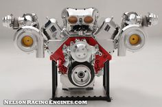 572 Polished Twin Turbo 522cid Big Block Chevy - Nelson Racing Engines